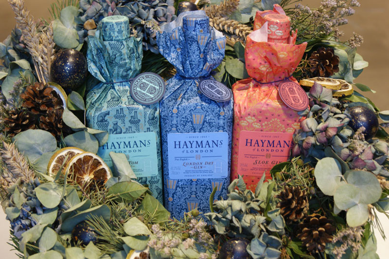 Hayman's gift wrapped gin bottles