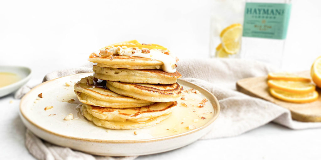 Pancakes made with Hayman's gin