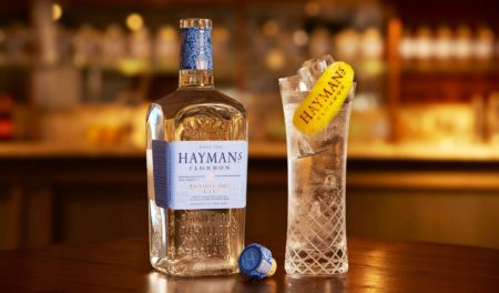 Hayman's Gin and Tonic in Hayman's Glass
