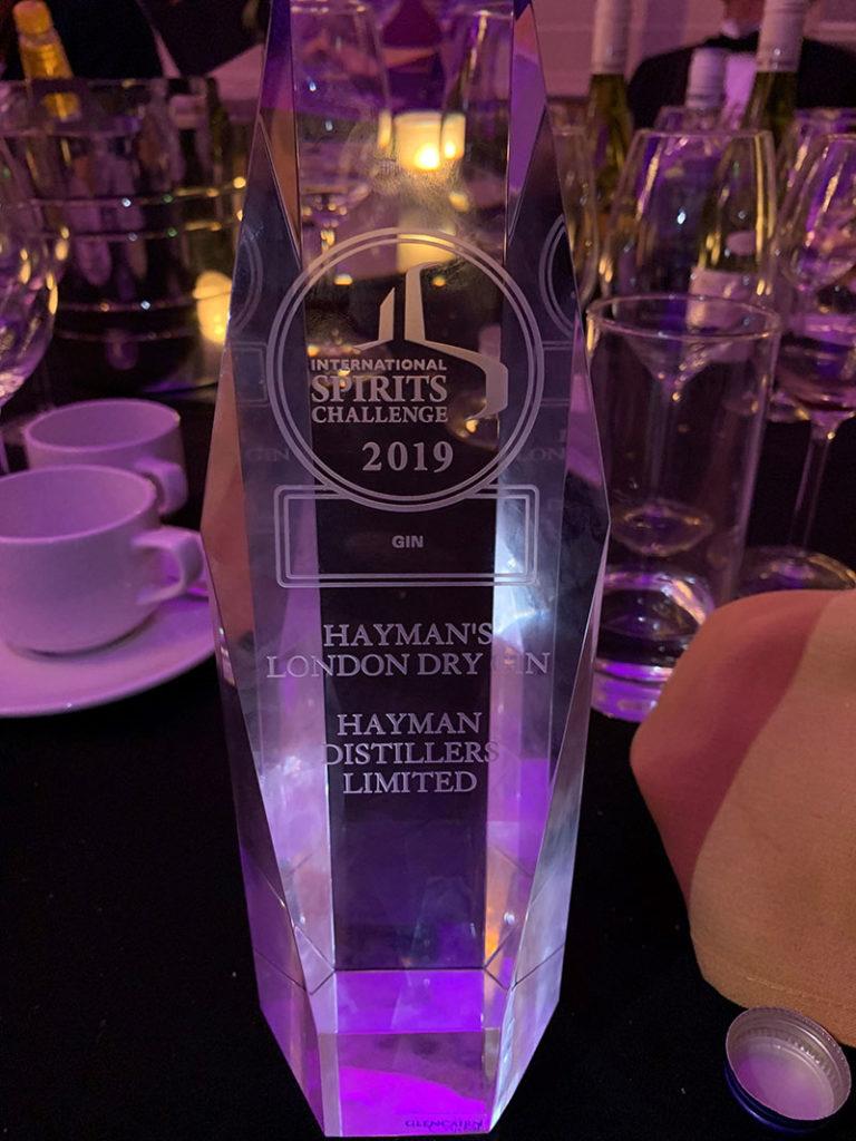 Hayman's Gin award Winners 2019