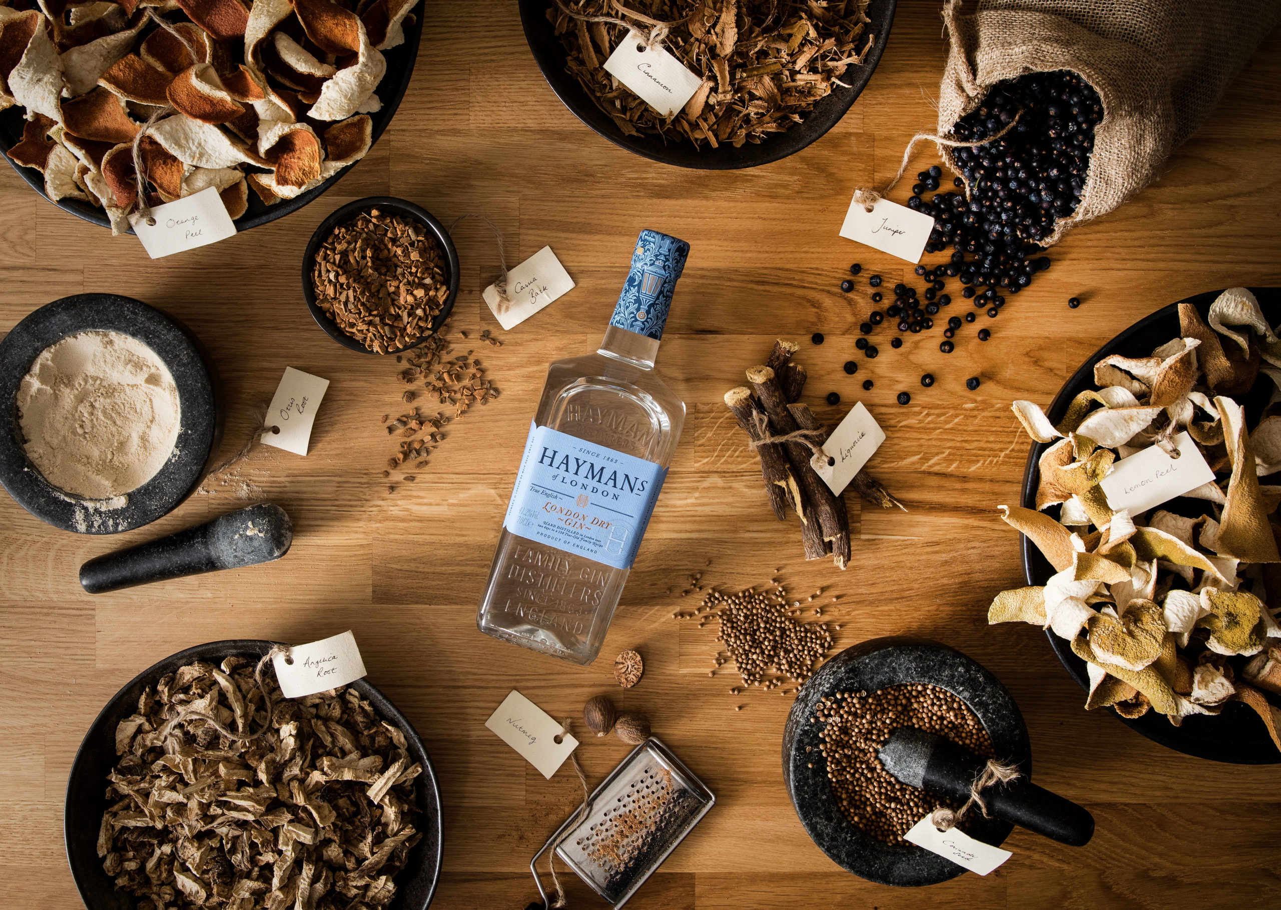 Hayman's London Dry Gin with botanicals