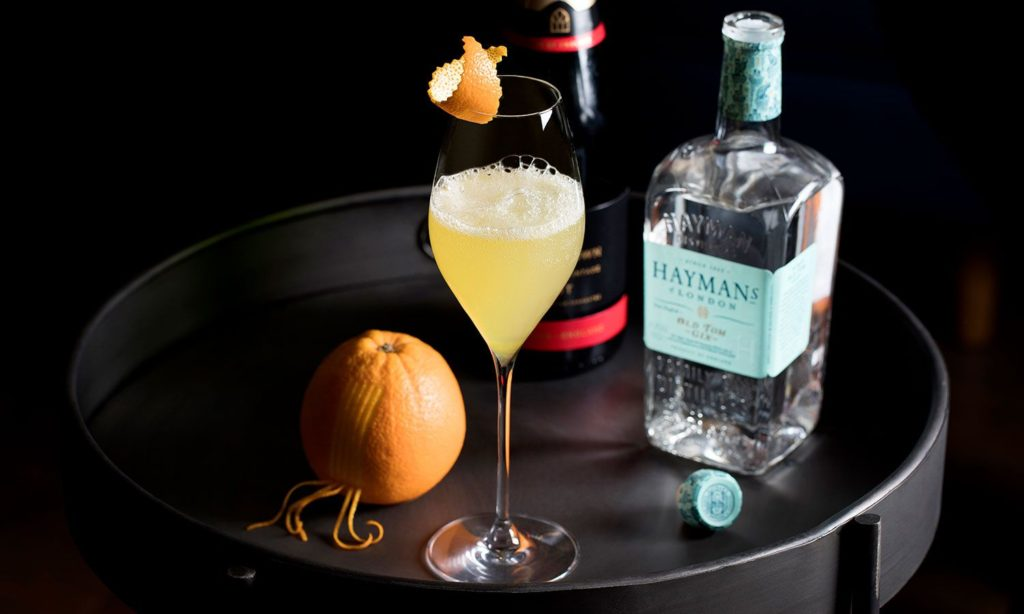 Sherbet Mimosa with Hayman's Old Tom Gin
