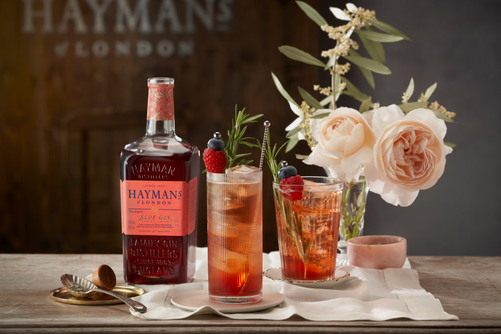 Hayman's Sloe Gin and elderflower