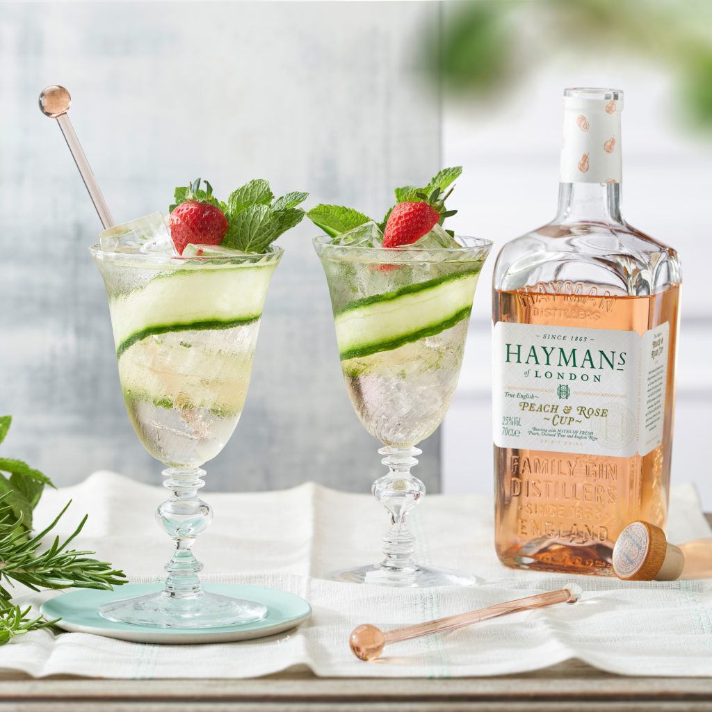 Summer Spritz with Hayman's Peach and Rose Cup