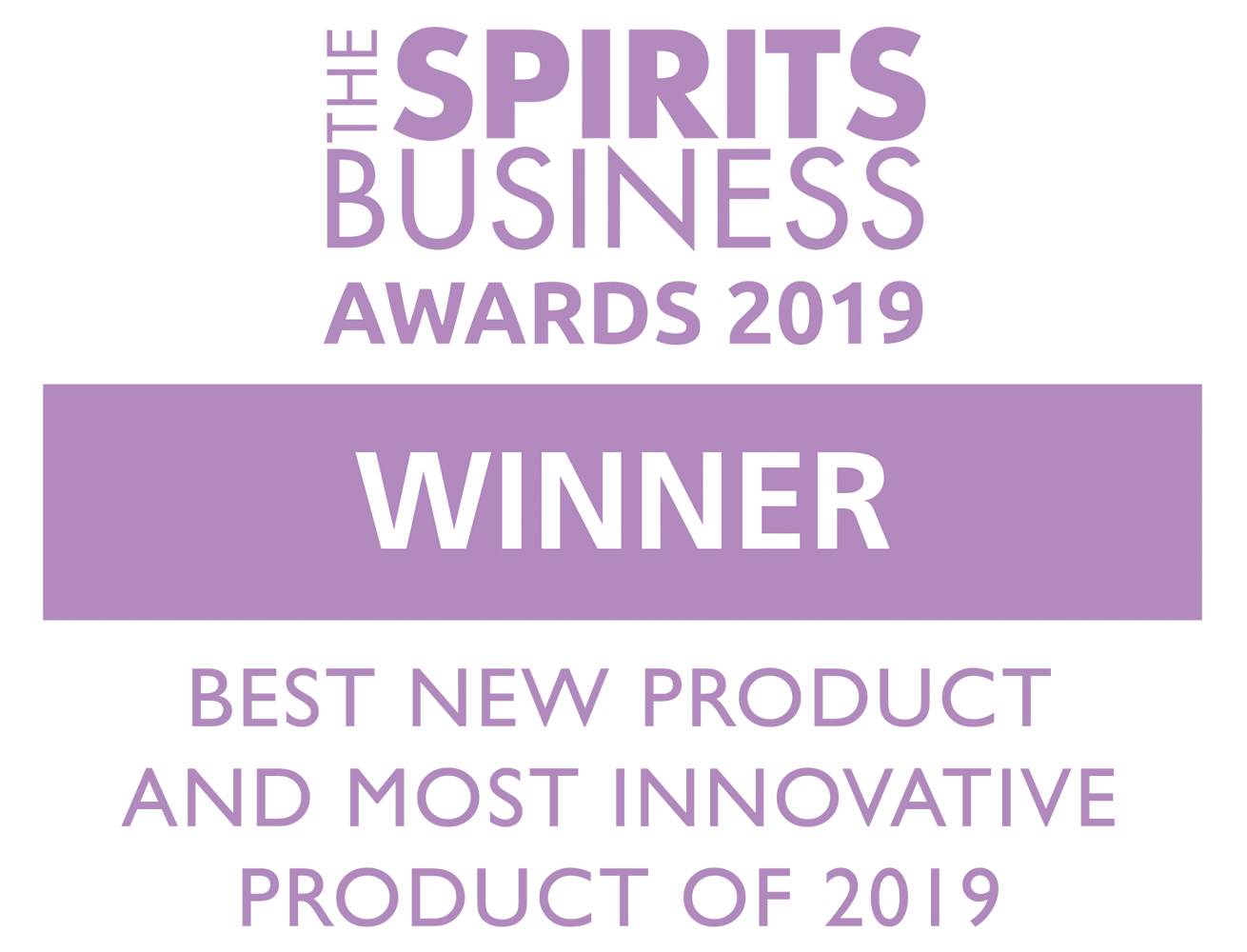 The Spirits Business Awards best new product and most innovative product 2019