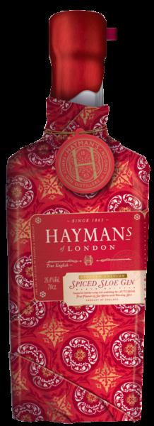 Hayman's Spiced Sloe Gin in Gift Wrap