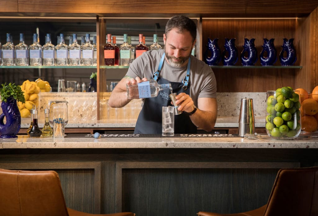 Bartender making a drink with Hayman's London Dry Gin