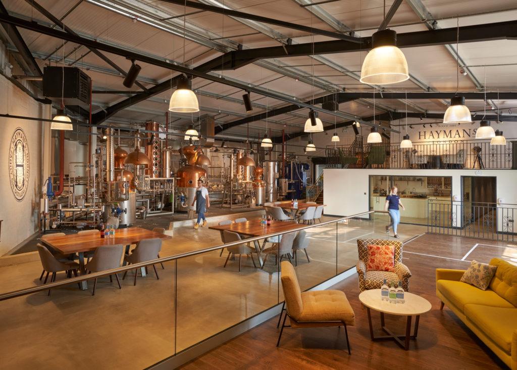 Inside Hayman's distillery