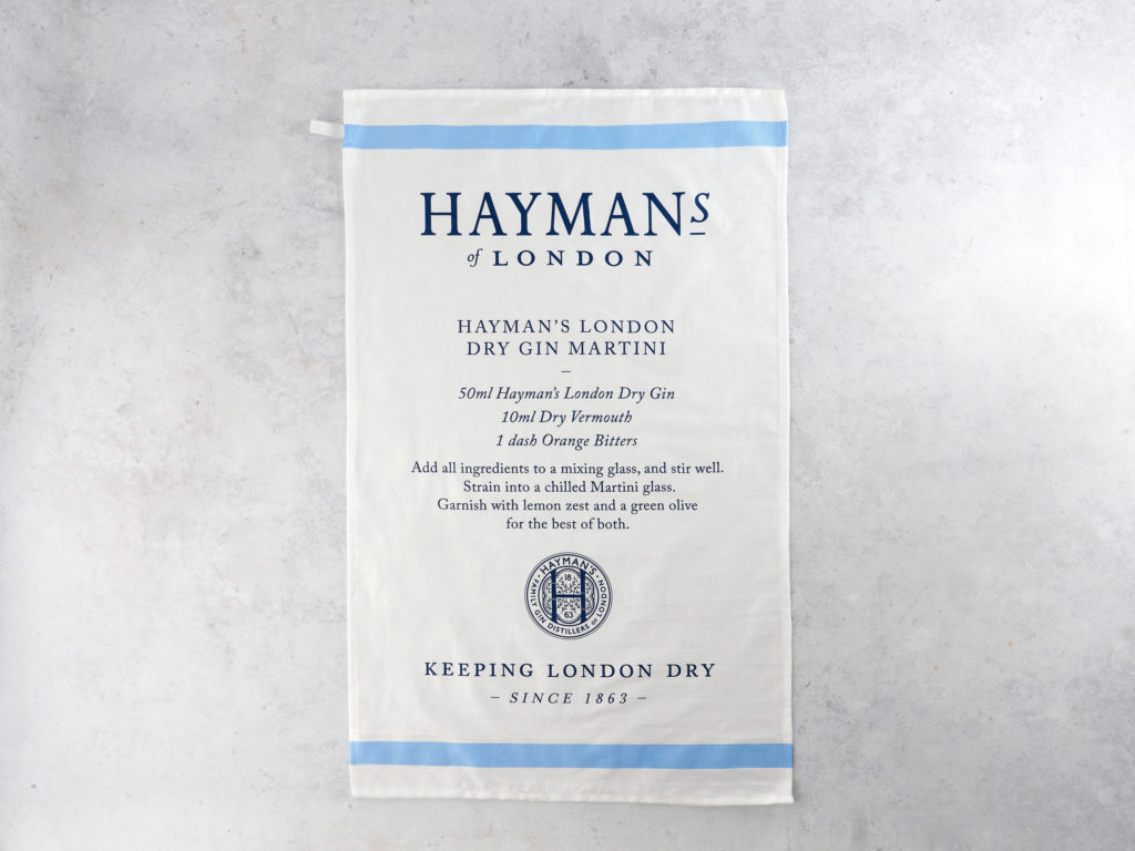 Hayman's Tea Towel Martini Recipe